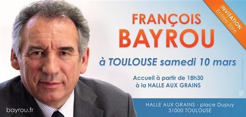 François Bayrou à Toulouse le 10 mars dernier dans Infos Invitaiton-To2